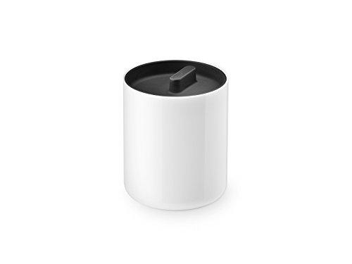 Authentics Lunar Boîte Blanc avec Couvercle Noir, Pour Coton, Plastique, 1200499