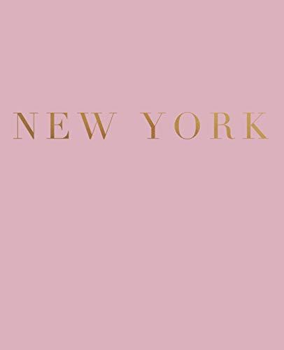 New York: A decorative book for coffee tables, bookshelves and interior design styling | Stack deco books together to create a custom look (Cities of the World in Blush)