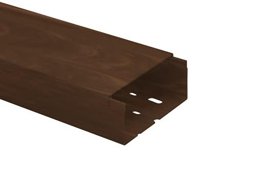 KOMIB Kabelkanal/Kabelkanäle/Kabelführung - Verschiedene Größe/Braun Holz Design - Schraubbar (mit Montagelochung im Boden) - Je Stange 2M (5 x 2M = 10m, 90 x 40 mm)