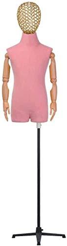 LZCMN Maniquí de Costura Ajustable Soporte de exhibición de maniquí Modelo Infantil Modelo de Tienda Accesorios de decoración de Ventana para Tienda de Ropa para niños de 2 a 8 años Maniqui Cost