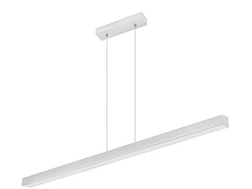 Dimmbare LED Hängeleuchte HausLeuchten DIMLED120KB-WEIß aus Holz 120cm / 1998lm / Warmweißes Licht (3000 K) Deckenlampe Deckenleuchte Pendelleuchte Leuchte Lampe (Dimmbare WEIß Warmweißes Licht)