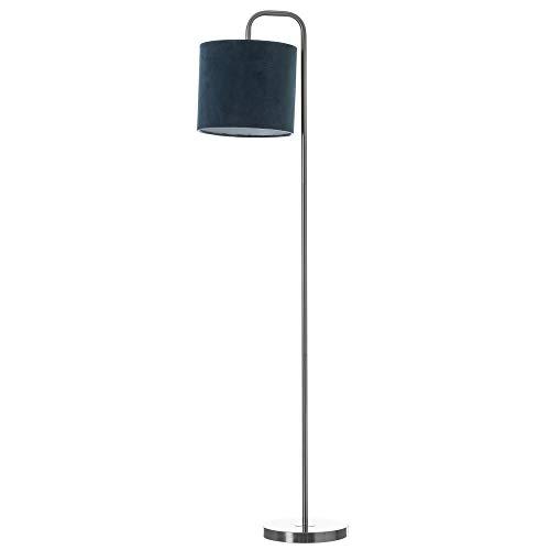Lámpara de pie de metal azul moderna para salón Vitta - LOLAhome