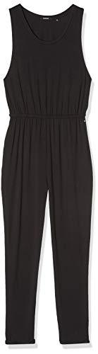 khujo Damen NECY Basic Stretch Pants Jumpsuit, Schwarz (Black 200), 44 (Herstellergröße:L)