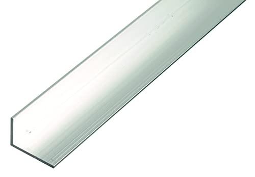 GAH-ALBERTS 473983 Perfil de ángulo, blankes Aluminium, 1000 x 30 x 20 mm
