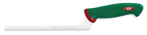 Sanelli Premana Professional Coltello Formaggio Tenero, Acciaio Inossidabile, Verde/Rosso, 35.5x3.0x7.0 cm