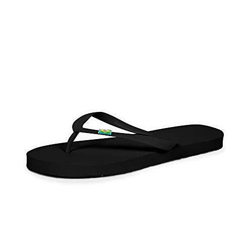 CoboFamily Chanclas Mujer, Zapatos de Playa y Piscina, Flip Flop Verano Otoño Invierno, Chancletas Adulto Multicolor, Suela de Goma Antideslizante (Negro, 37)