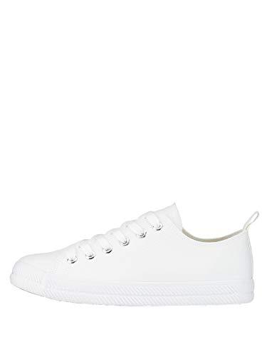 Marypaz, Zapatillas Lona con Cordones para Mujer Blanco