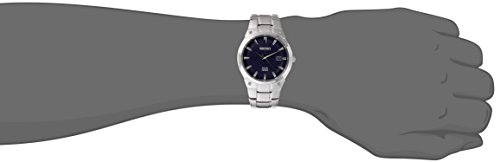 Fashion Shopping Seiko Men's SNE323 Dress Solar Analog Display Japanese Quartz Silver Watch