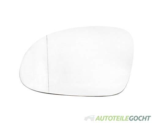 Spiegel Ersatzspiegel Spiegelglas Asphärisch Heizbar Links für 115N0857521, 5N0857537, 5N0857537GRU von Autoteile Gocht