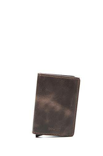 Secrid–Monedero vintage, tamaño 10,2cm, chocolate (marrón) - SV-chocolate