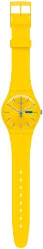 Swatch SUOJ700C - Reloj analógico de Cuarzo para niña, Correa de plástico Color Amarillo
