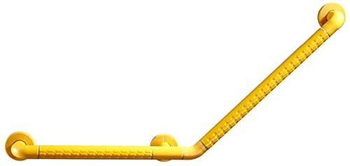 CHLDDHC Mango de Ducha Antideslizante Mango de Barra de Agarre de Ducha Barra de Agarre de Baño de Acero Inoxidable Barra de Equilibrio de Baño Estriada,Yellow-30 * 30cm;45 * 45cm