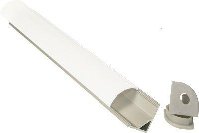LedPiemonte illuminazione Led barra led ANGOLARE SENZA comando a misura luce naturale profilo in alluminio 120 cm alimentatore 12V incluso