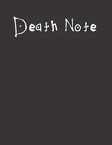 Death Note : Notebook & Journal - 8.5 x 11 Inches - 120 Lined pages