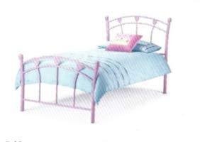 Lucky Genérico Jemima - Cama infantil (90 x 190 cm, incluye somier, lacada epoxi), color rosa