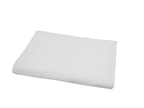 my Hamam, Massageliege Handtuch, Frottee in weiß, Auflage für Therapie- und Kosmetikliegen ca. 100x200 cm und Gewicht ca. 1100 g