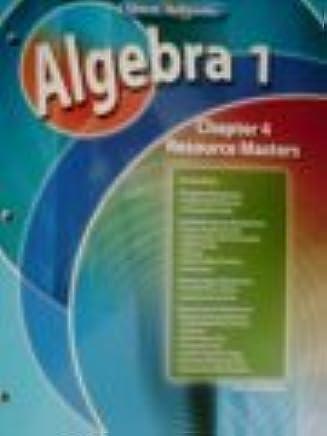 Algebra 1 Chapter 4 Resource Masters Glencoe Mathematics