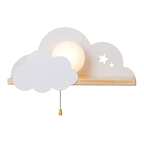 Luces en forma de nubes Luz de noche LED para niños para niños Lámparas de nubes blancas Luces de noche para niños Lámparas de decoración interior en la pared para la iluminación de la fiesta Decoraci