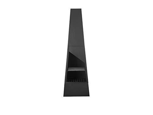 Beliani Kamin-Feuerstelle mit Grillrost schwarz Stahl Modern Outdoor Yate