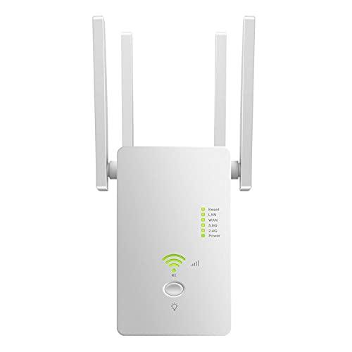 CWAIXXMM 5 GHz WiFi Repetidor inalámbrico WiFi Extender 1200Mbps Amplificador de Wi-Fi 802.11N Rango DE Largo WI FI Booster 2.4G WiFi,British regulatory