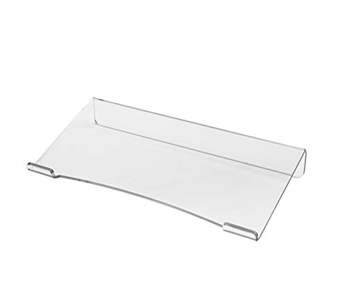 Made in the USA Computer Tilted Keyboard Holder, Clear Acrylic Premium Stand PC Keyboard Stand, Universal Elevated Stand for Easy Ergonomic Typing, Computer Gaming Working at Home and Office