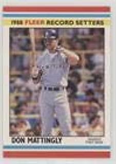 Don Mattingly (Baseball Card) 1988 Fleer Baseball Record Setters - Box Set [Base] #24
