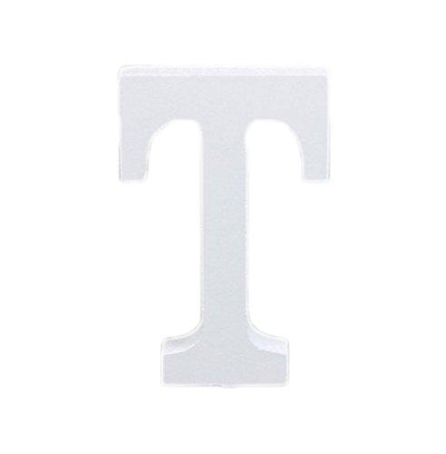 Lumanuby 1 pcs A-Z 26 Lettres + Bois Blanc Maison de lettres de l'alphabet moderne Décoration Décoration de mariage Accessoires de prise de vue (T)