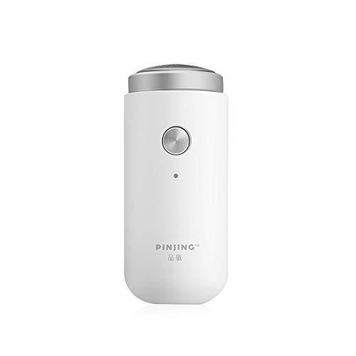 Hongtianyuan para Pinjing Afeitadora Electrica Hombre,portátil Maquina de Afeitar eléctrica,USB Recargable,IPX5 Impermeable,húmeda y Seca de Doble Uso.