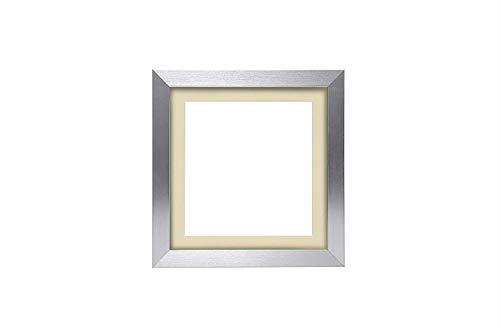 3D Deep Box Frame Range Bilder/Foto/Posterrahmen mit maßgeschneiderter Halterung – mit einer MDF-Rückwand – fertig zum Aufhängen – Silberrahmen mit elfenbeinfarbenem Passepartout – A3 für A4-Bilder