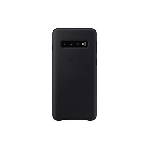 Leather Cover für Galaxy S10 Schwarz