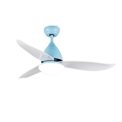 """Luz silenciosa del ventilador de techo Ventilador de techo de bajo consumo de 46 """"con luminaria LED regulable y ventilador de techo de lámina de ABS con pantalla de ópalo - Control remoto Ahorro de en"""