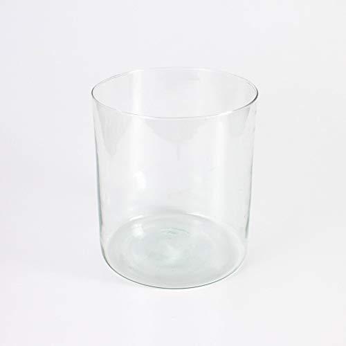INNA-Glas Zylinder - Vase Sansa aus Glas, klar, 22cm, Ø 20cm