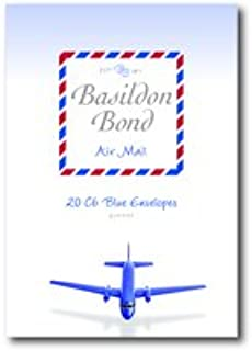 Basildon Bond Airmail Envelope Blue Pack of 20 100080079