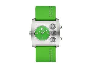 Unisex Armbanduhr Elektroantrieb grün Smart Car von Mercedes Benz