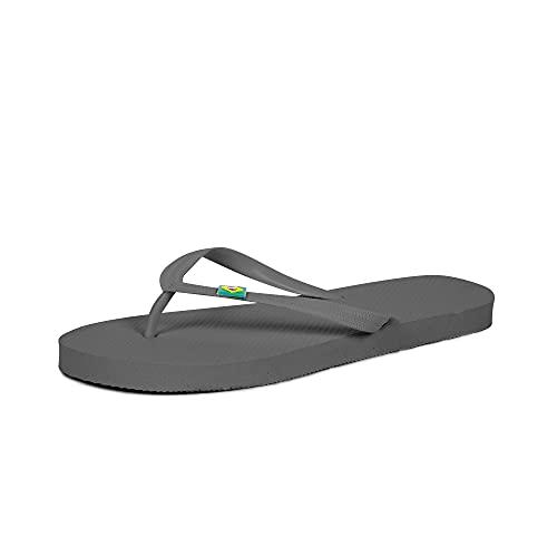 CoboFamily Chanclas Hombre Adulto, Zapatos de Playa y Piscina, Flip Flop Verano Otoño Invierno, Chancletas Multicolor, Suela de Goma Antideslizante (Gris, 40)