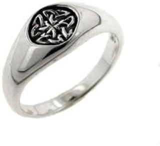 小纯银 7mm 凯尔特结徽章戒指(尺寸 4、5、6、7、8、9、10、11、12)
