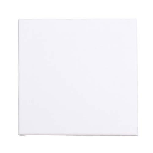 Yardwe Pannelli in Tela di Canapa in Bianco Pannelli in Legno per Quadri 20X20CM (Bianco)