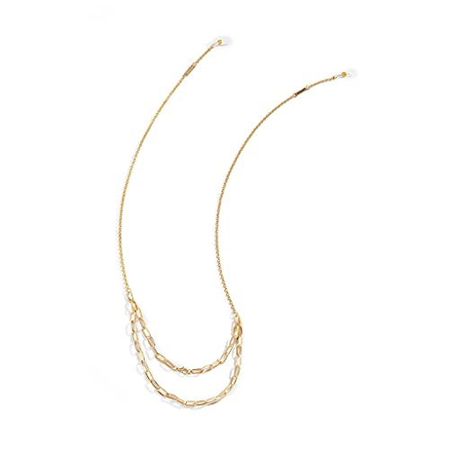 GYZX Cadenas de Gafas de Collar de Metal para Mujer Correa Correa de cordón de Cuello Gafas de Sol Joyas de Cadenas (Color : A, Size : Length-70CM)