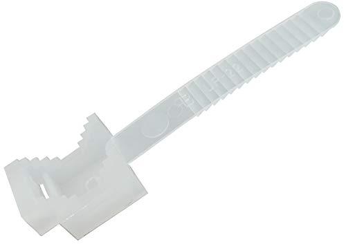AERZETIX: 100 x Klemmschelle Weiß 65 mm zum Festschrauben für Wandmontage C41955