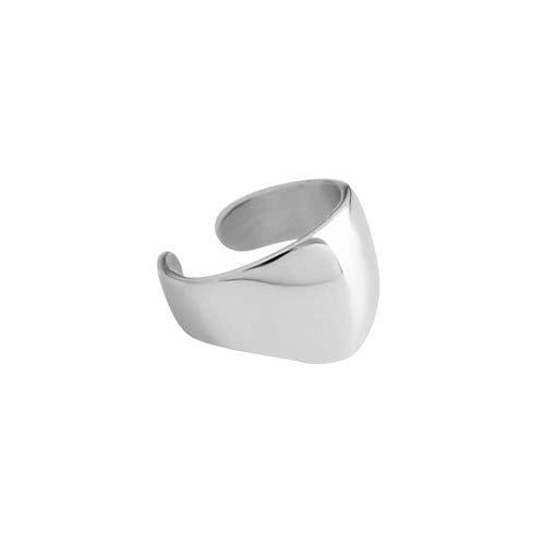 Minimalist Polished Ear Cuff Helix Cartilage Clip on Earring for Women Girls Men S925 Sterling Silver Small Hoop Wrap Earrings Non-Pierced Ear Adjustable Unisex Jewelry (Silver)