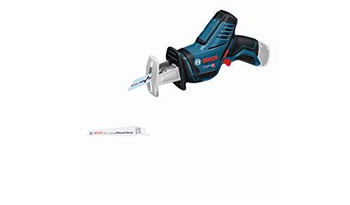 Bosch Professional 12V System Akku Säbelsäge GSA 12V-14 (Schnitttiefe Holz/Metallprofile: 65/50 mm, inkl. 2 Sägeblätter, ohne Akkus und Ladegerät, im Karton)