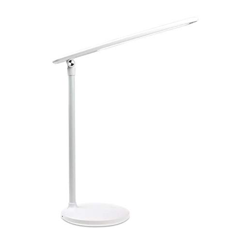 Usb bureaulamp geleid, usb bureaulamp dimbare 3 lichtmodi Touch Control Verkrijgbaar in wit en zwart LED Light voor Slaapkamer/Nightstand/Living Room,White,Plug in models