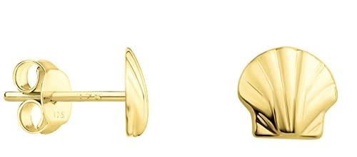 DIAMALA Pendientes para mujer de oro 375 (9 quilates), oro amarillo con diseño de concha - DI20024