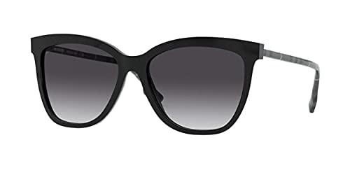Burberry gafas de sol BE4308 38588G negro gris talla 56 mm de las mujeres