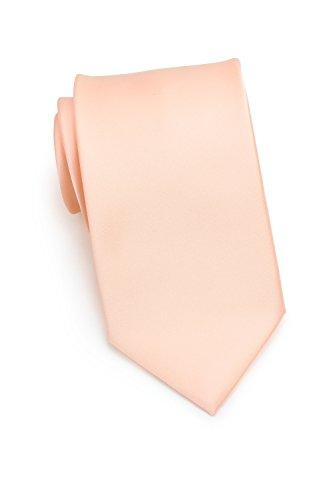 Cantucci einfarbige Krawatte | Mikrofaser | Handarbeit (Lachs)