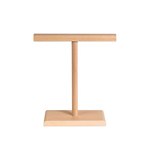 hongbanlemp Soporte para auriculares duales para escritorio de madera maciza para juegos con soporte para colgar auriculares con pantalla creativa Soporte simple de almacenamiento (color: A)