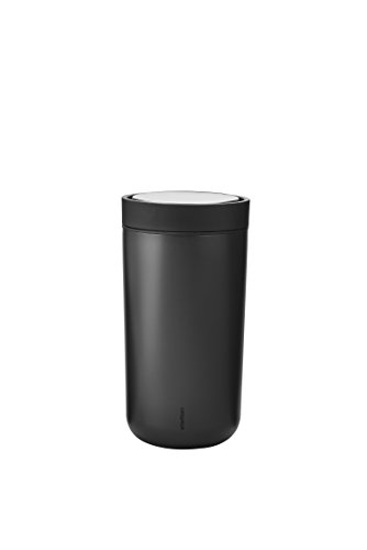 Stelton Termobecher To-Go Click Stahl Kaffeebecher, 0.2 l. - Black/Metallic