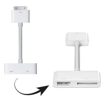 YXFYXF AV Digitale HDMI a HDTV, for Il Nuovo iPad (iPad 3) / iPad 2 / iPad/iPhone 4 & 4S / iPod Touch 4 (Bianco).