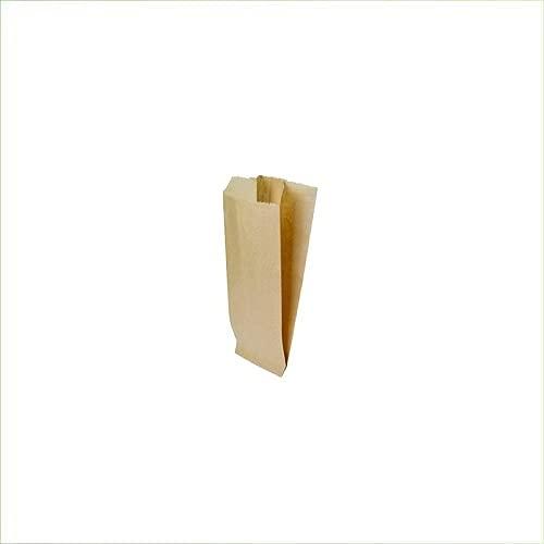 Virsus 200 Sacchetti di Carta per Alimenti Sacchetti Avana Carta Kraft per Pane Dolci Buste di Carta per Alimenti Varie Misure (12x26 cm)