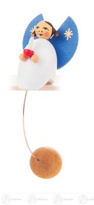 Spielzeug Schaukelfigur Engel mit Kerze Höhe ca 10 cm NEU Erzgebirge Wippfigur Pendelfigur